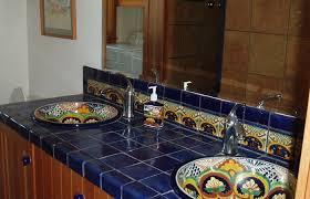 mexican tile bathroom designs top talavera tile design ideas 2 bathroom cabinet farmhouse chic