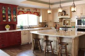 Red Kitchen Decor Ideas by Red Country Kitchen Designs