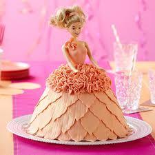 Cheap Cakes Doll In Peach Dress Cake Wilton