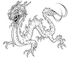 dragon pictures to colour free download