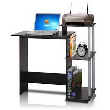 Small Computer Desk For Kitchen Furinno 11192bk Gy Efficient Computer Desk Black Grey