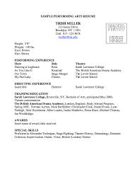 sle resume for college admissions representative training performing arts resume sle http resumesdesign com