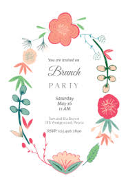 brunch invitations free printable brunch party invitation templates greetings island