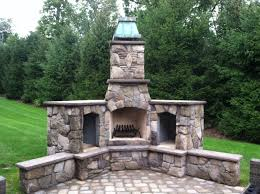 outdoor fireplace with chimney binhminh decoration