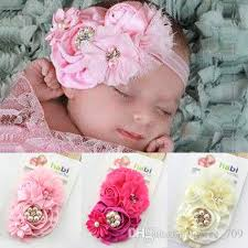big flower headbands new baby headbands bows big flowers satin chiffon hair