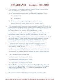 Probability Independent Events Worksheet Ib Maths Worksheet Probability Mean Probability Distribution