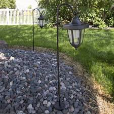 Landscaping Solar Lights by Pure Garden Solar Led Hanging Coach Lanterns Black Set Of 2