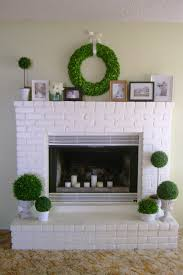 how to paint a fireplace white modern rooms colorful design