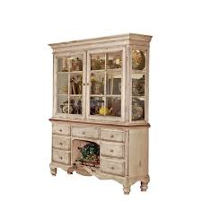 hillsdale wilshire buffet and hutch in antique white finish 4508bh