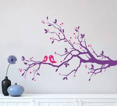 birds on a tree wall sticker for living room or bedroom