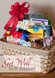 get well soon baskets get well gift basket ponderings from my heart