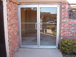 Metal Front Doors For Homes With Glass by Rectangle Transparent Double Glass Front Doors With Steel Frame