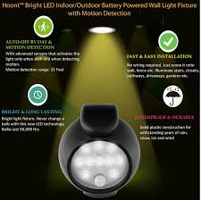 hoont bright led indoor outdoor battery powered wall light fixture