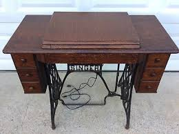 Antique Singer Sewing Machine And Cabinet Sewing Machines Sewing Pre 1930 Antiques Picclick