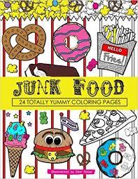 junk food coloring book 24 page coloring book dani kates
