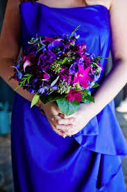 blue flowers for wedding wedding flowers with royal blue dresses