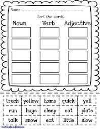 21 best adjectives nouns verbs pronouns images on pinterest