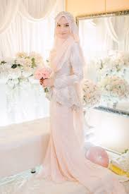 wedding dress muslimah simple blush peplum dress for solemnization pinteres