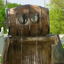 Home Decor Water Fountains by Old Barrel Water Fountain Great Home Decor Barrel Water