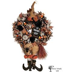 Etsy Halloween Wreath by Wicked Witch Front Door Wreath Burlap Witch Wreath Candy Corn