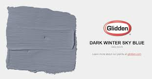 dark winter sky blue paint color glidden paint colors