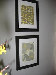 Gray And Yellow Bathroom by Yellow Grey Framed Fabric Art My Own Pinterest Fabric Art
