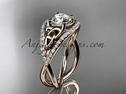celtic engagement rings 14kt gold celtic knot engagement ring diamond wedding ri