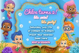 bubble guppies birthday invitations bubble guppies birthday