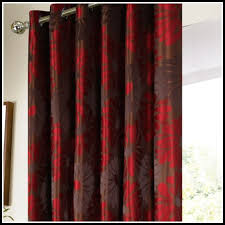 beautiful red brown curtains decor with brown and red kitchen