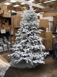 shop ge ft pre lit alaskan fir flocked artificial