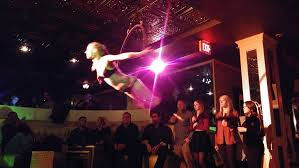 Bathtub Gin Burlesque On Stage Libations And Lyra Acrobats In The Old Liquor Store