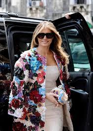 World Map Jacket by Melania Trump Dazzles In 51g Dolce U0026 Gabbana Coat In Sicily Tour