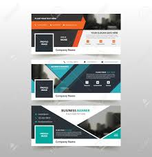 layout banner template orange blue green corporate business banner template horizontal