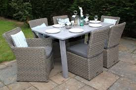 Outdoor Wicker Dining Set Calabria Grey Rattan Corner Sofa With Luxurious Thick Grey