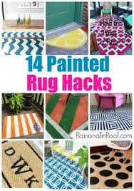 Diy Outdoor Rug With Fabric Paint An Outdoor Rug I Already Have These Rugs So Just Need To