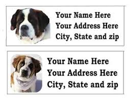 120 st bernard pet return address labels ebay