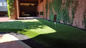 my office building recently installed a putting green album on