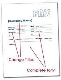 free fax cover sheet word