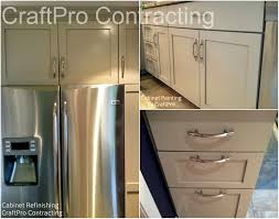 cabinet painting refinishing photo gallery craftpro from stained wood to beige painted kitchen cabinetry by craftpro in morristown nj