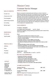 Customer Service Resumes Examples Free by Amusing Customer Service Manager Resume 94 On Resume Templates