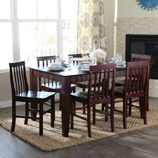 Black And Wood Dining Table Walker Edison Furniture Company Abigail Espresso Stain Resistant
