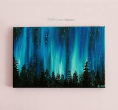 how to paint northern lights small galaxy painting valentines day night sky northern lights
