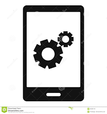 working phone icon simple style stock vector image 86390149