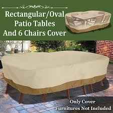 Outdoor Furniture Covers For Winter by Patio Garden Rectangular Oval Table Chair Cover Outdoor Furniture