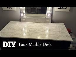 marble computer desk diy faux marble vanity computer desk tops talk through