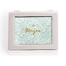 personalized photo jewelry box jewelry and trinket boxes jewelry storage glitter heart print