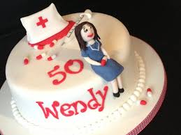 nurse 50th birthday cake cakecentral com