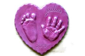 gift handprint ornament