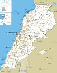 lebanon on the map map of lebanon israa mi raj net