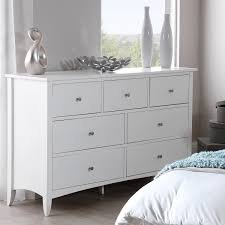 Bedroom Furniture Direct Edward Hopper White 7 Drawer Chest Large Chest Of Drawers With